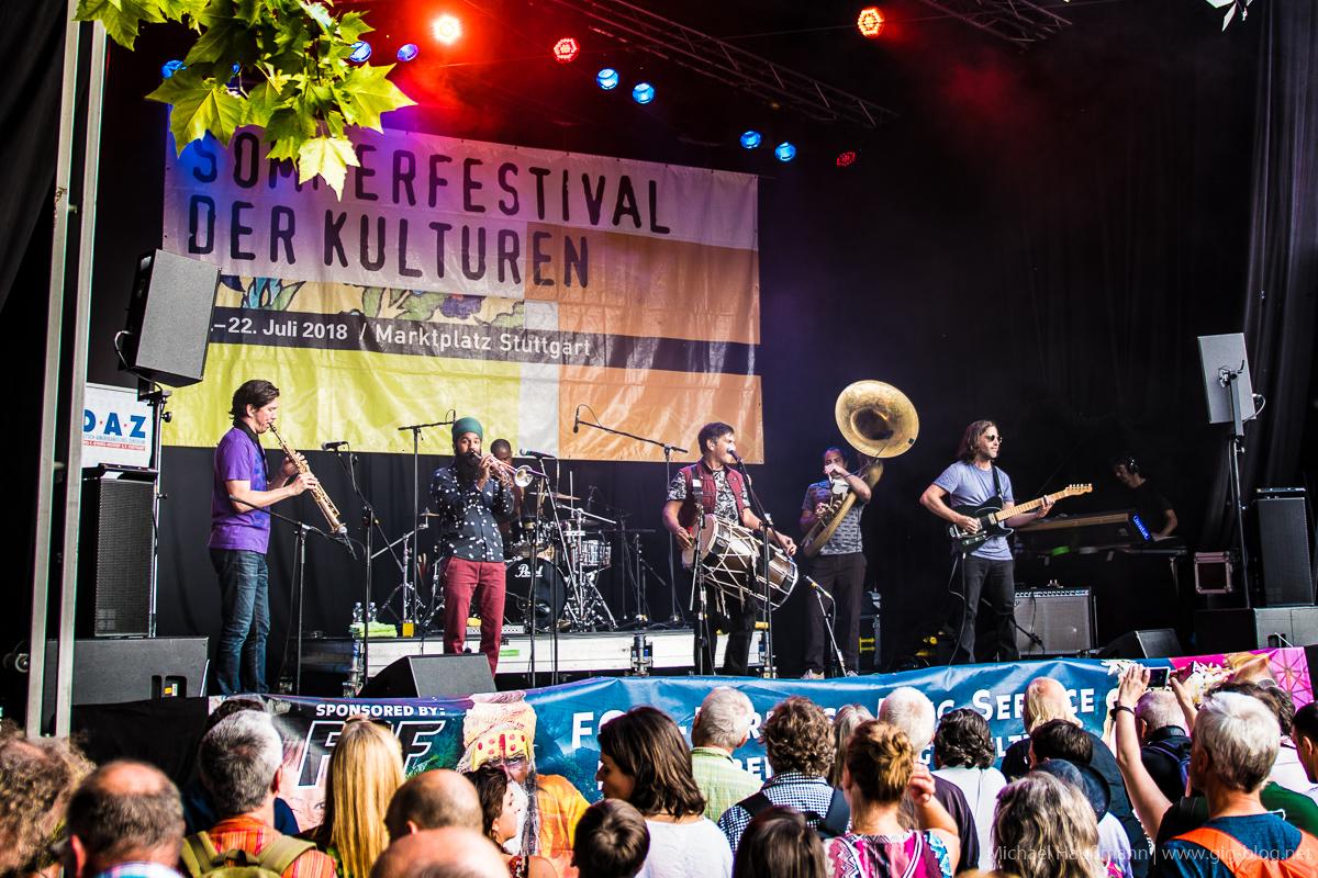 RED BARAAT, LA GÂPETTE, Sommerfestival der Kulturen, 17.07.2018, Marktplatz, Stuttgart