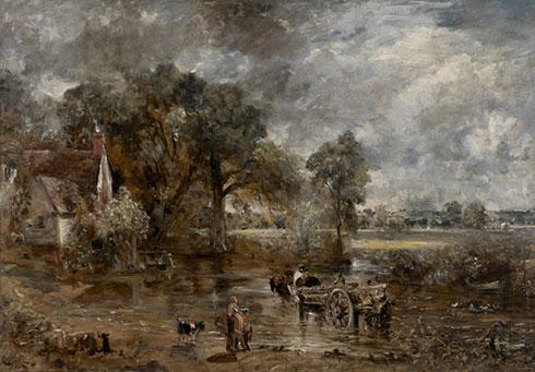 John Constable: Heuwagen (originalgroße Ölstudie)